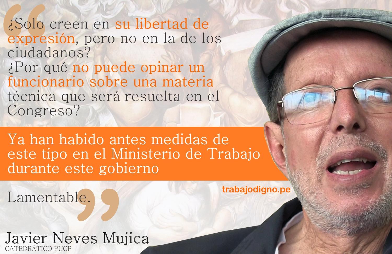 Trabajo Digno - Mensaje Javier Neves